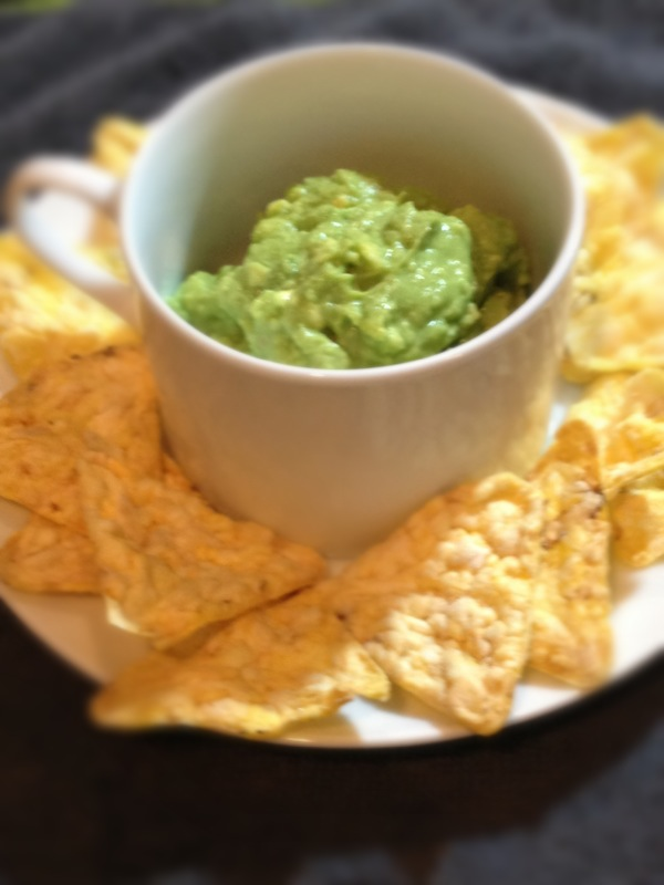 avocado and lime with gluten free chips