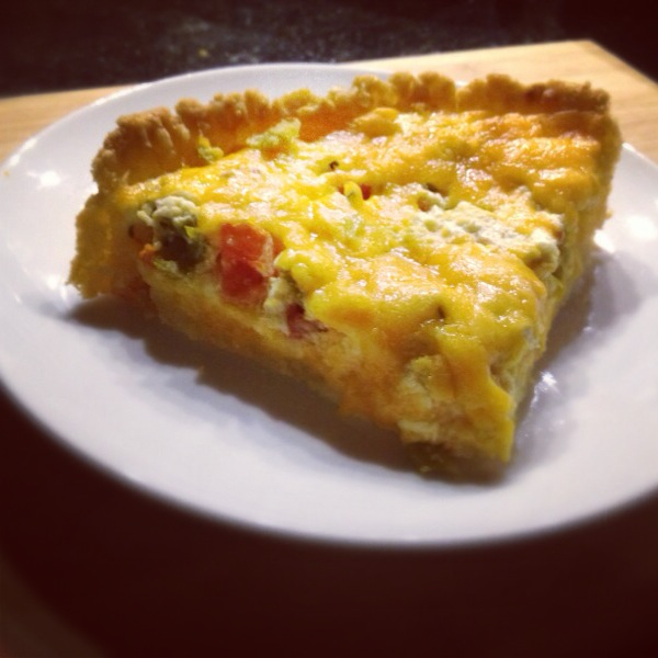 Gluten Free Quiche with Tomatoes and Green Chiles