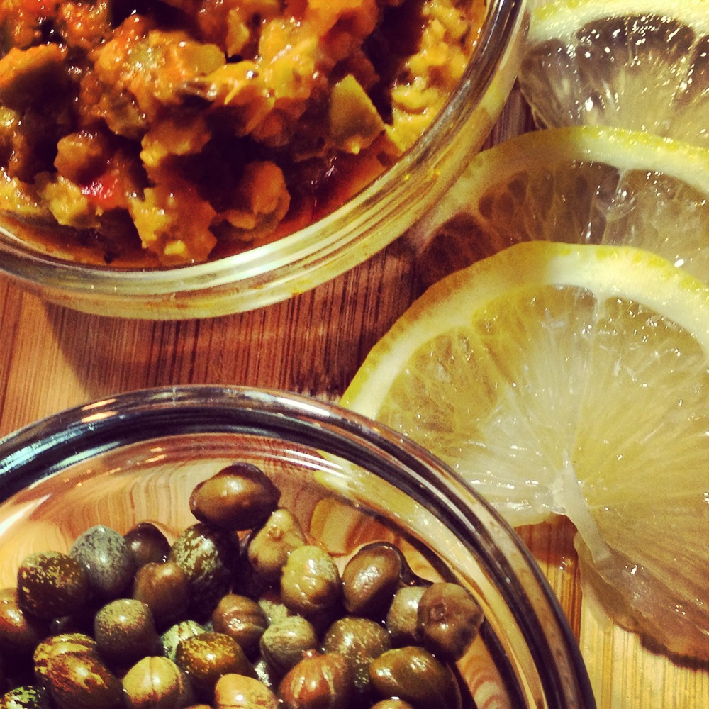 Simple Ingredients - Olive Tapenade, Lemon and Capers