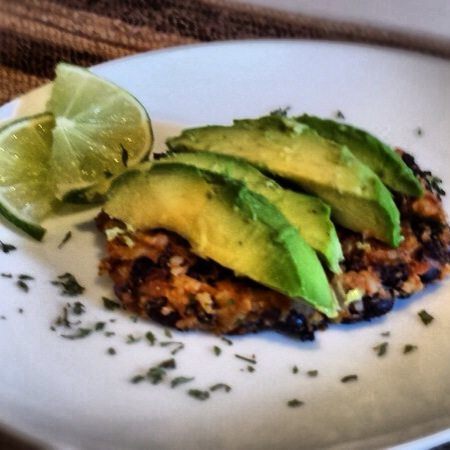 Veggie Burger with Avocado & Lime