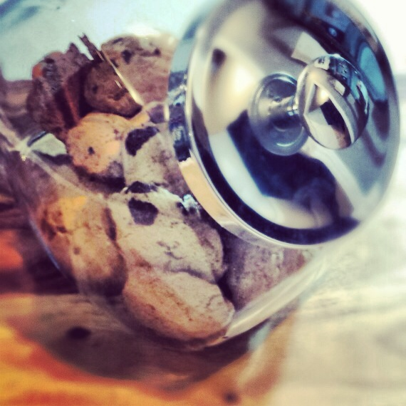 Gluten Free Chocolate Chip Cookies in a Cookie Jar