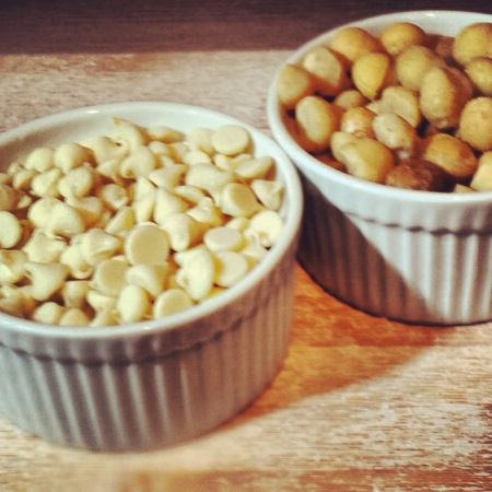 Healthy White Chocolate Chips and Macadamia Nuts