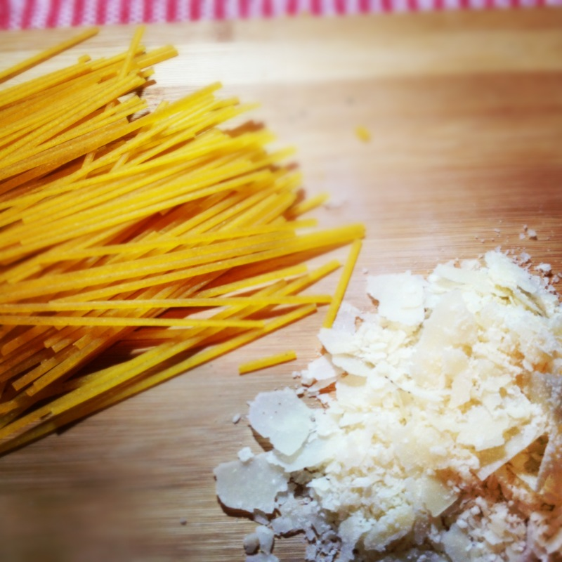 Quinoa Pasta and Parmesan Cheese.JPG