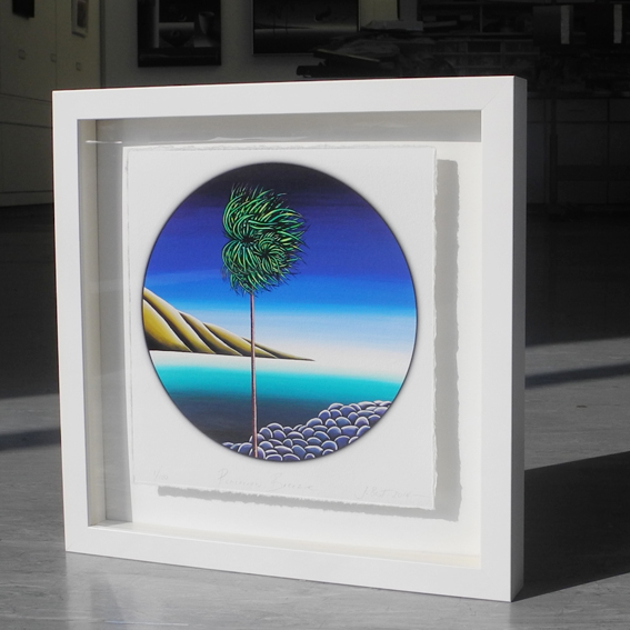 Pencarrow Breeze   - Limited Edition  - Giclee on Hannemuhle - 34 X 34  - Float mounted - NZ Timber Framed