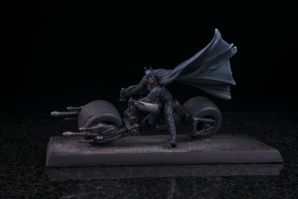 Knight Models Batman on Batpod
