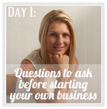 Caitlyn will answer the question:  'What's the most important question to ask yourself before starting your own business?' on  Caitlyn de Beer Life Coaching .   Connect with Caitlyn on Twitter  @caitlyndebeer  and on  Facebook .