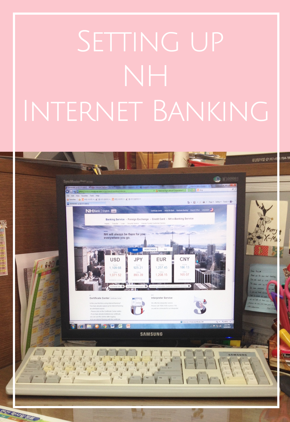Setting Up Nh Internet Banking In Korea Citygirlsearching Wiring Money To South