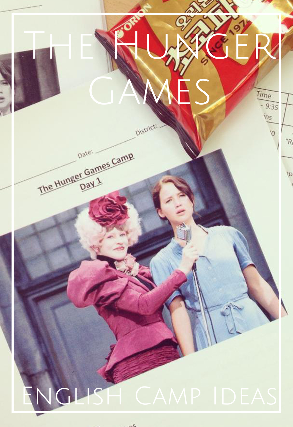 The HUnger Games English Camp ideas for teaching english in korea