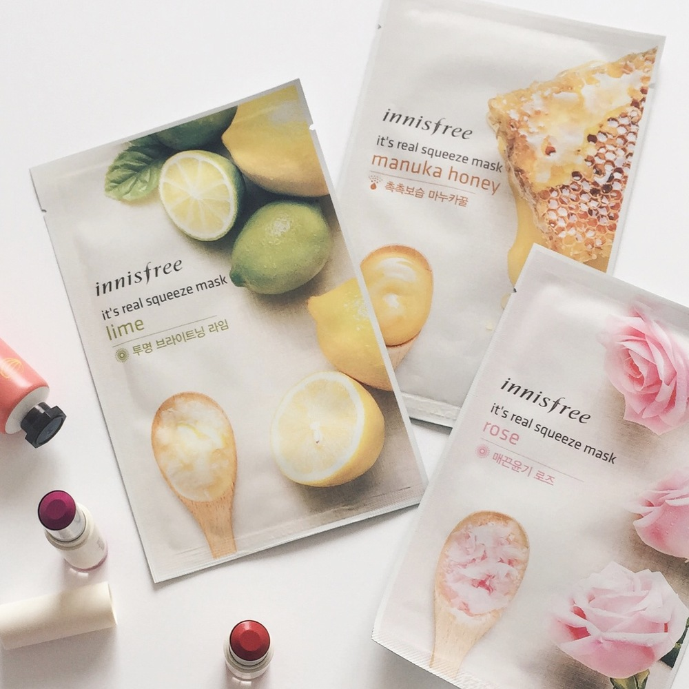 Innisfree Sheet Face Masks