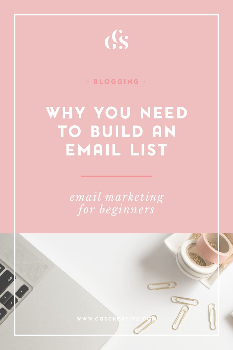 why you need an email list, what to send your email list, email marketing for bloggers, email marketing for beginners, how to do email marketing, content upgrades, optin freebies,