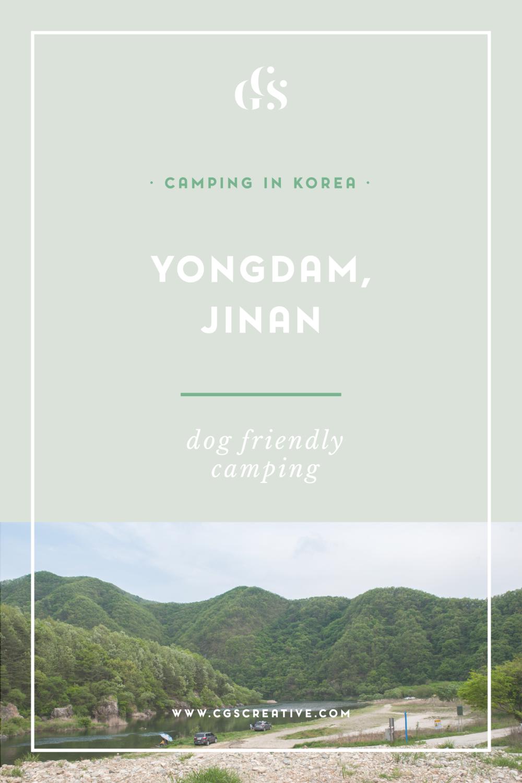 Camping in Korea, dog friendly camping in Korea, Yongdam, Jinan