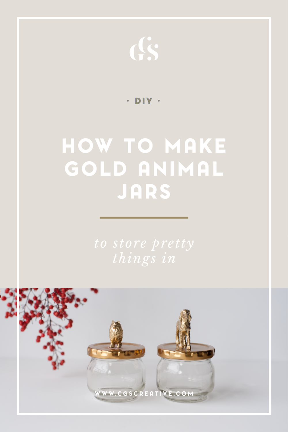 How To Make Gold Animal Glass Jars