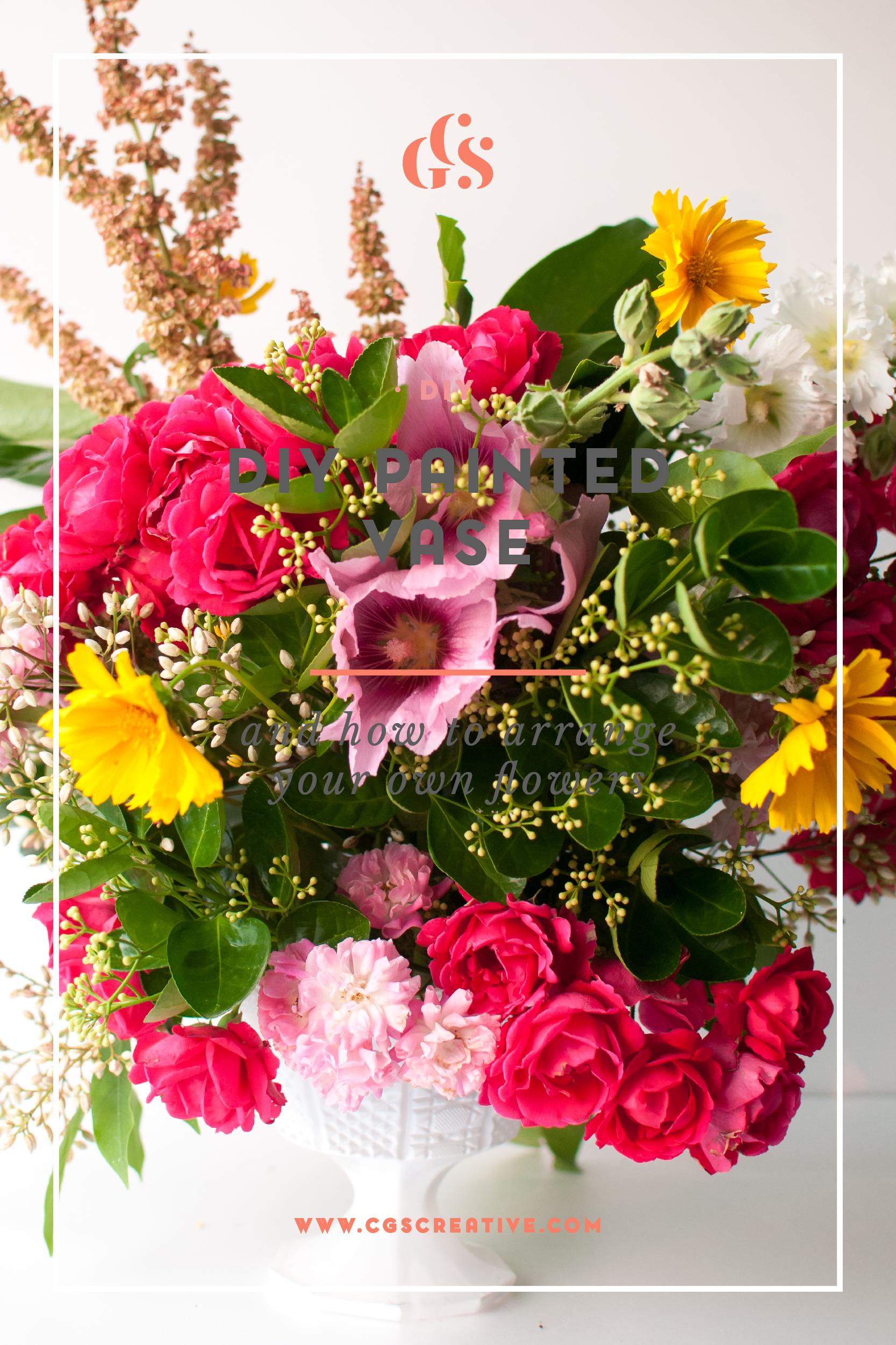 DIY Painted Vase and How to Arrange your own Flowers DIYDaysInKorea — CityGi