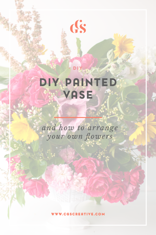 Diy Painted Vase And How To Arrange Your Own Flowers Diydaysinkorea