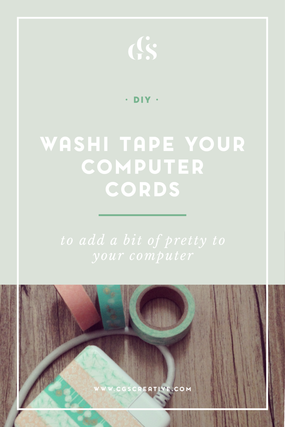 DIY Washi Tape Your Laptop Charger and Cables CityGirlSearching