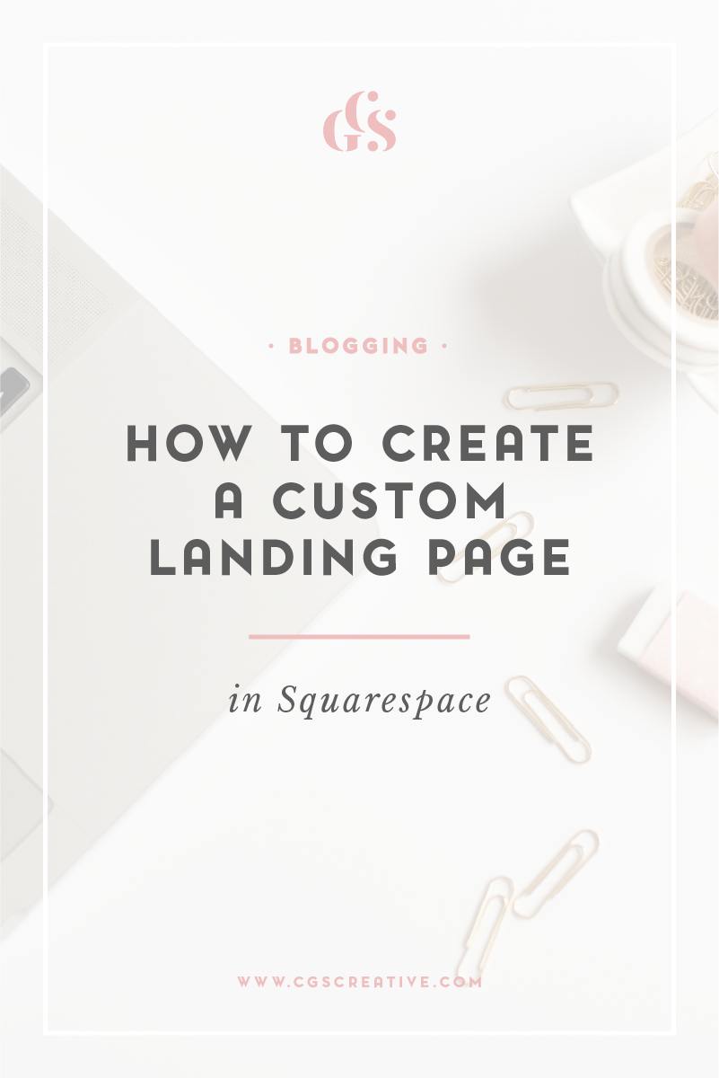 Create A Family With A Twist: How To Create A Custom Landing Page In Squarespace
