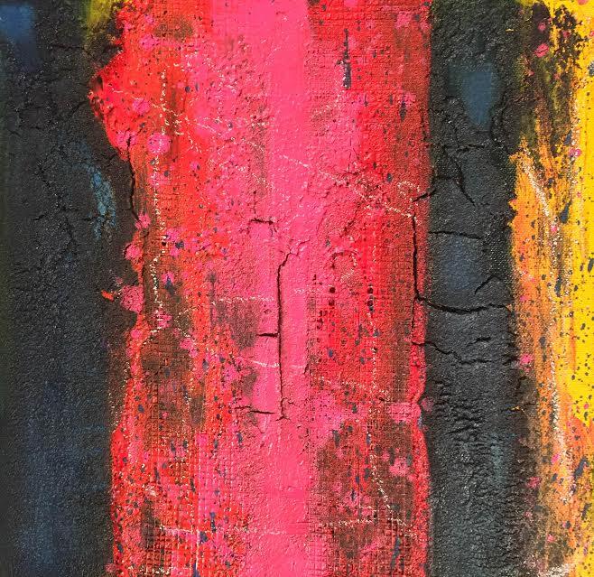 oil, enamel, asphalt on canvas