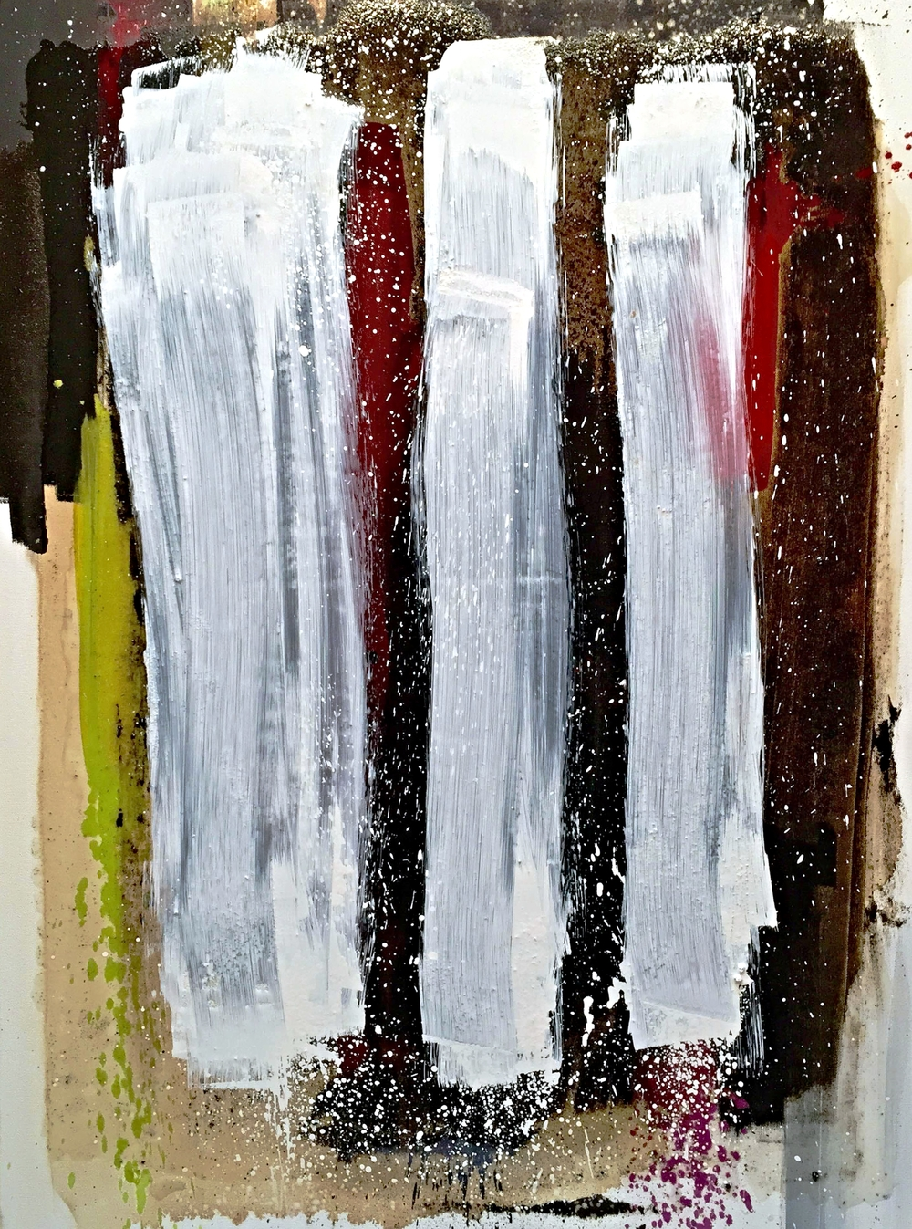 Divergence XXXI - Oil, asphalt, resin on canvas / 30 x 40 inches