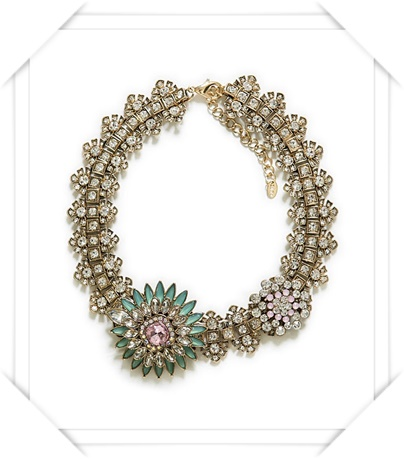 Zara  Crystal Flower Necklace