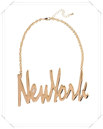 Asos  New York Necklace