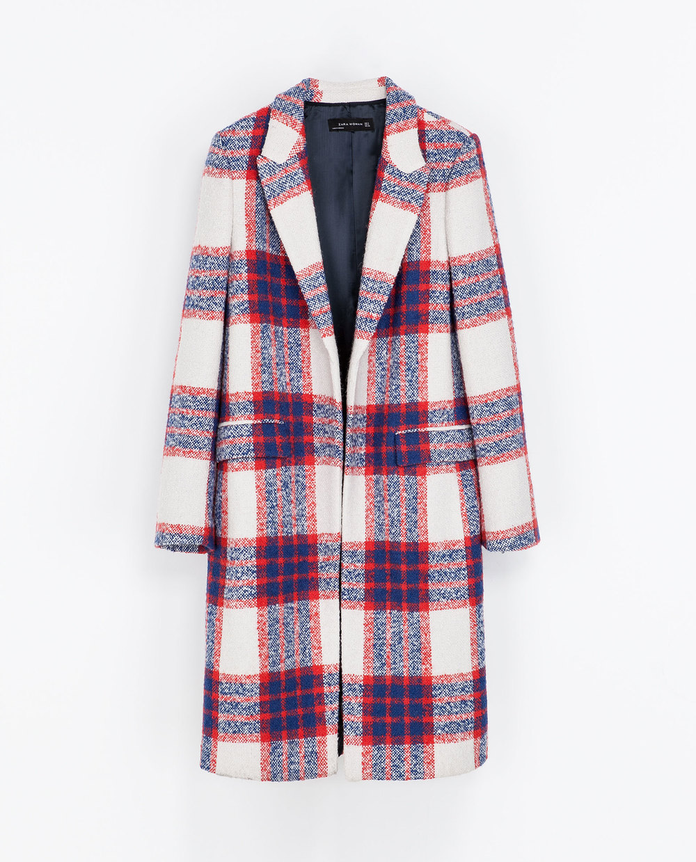 Checked Coat by Zara