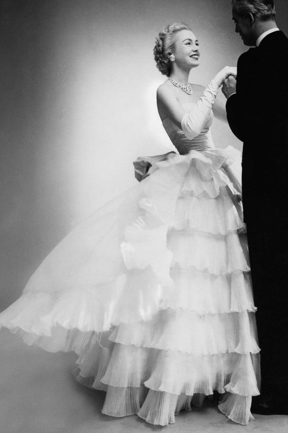 Belle of the Ball in Balenciaga. Vogue 1951. Photographer unknown.