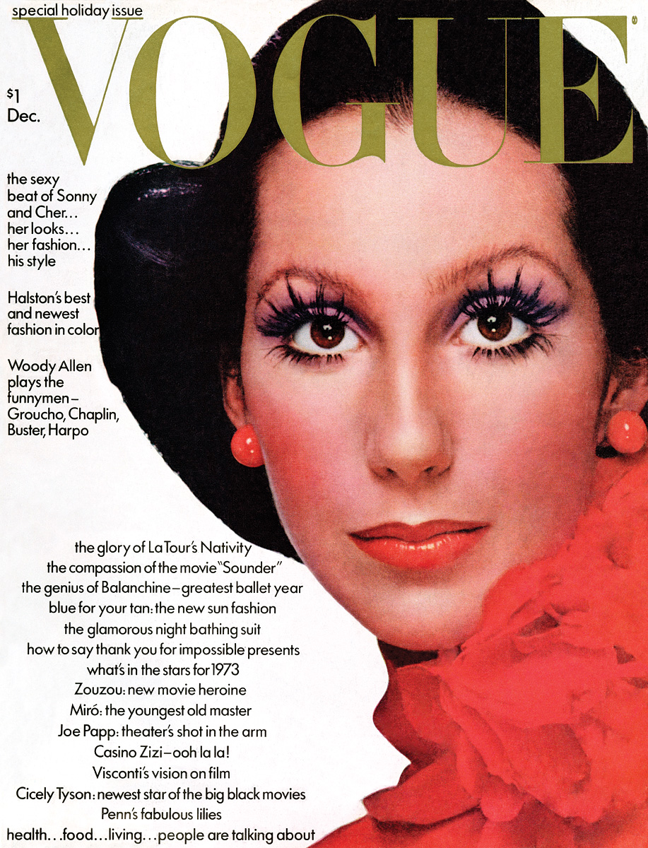 Vogue , December 1972 Photographed by Richard Avedon