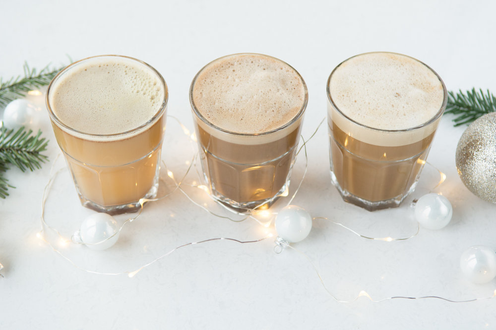 Holiday Beverages - Peppermint mochas, gingerbread lattes, oatmeal elixirs, and apple cider to warm your soul!