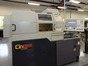 Our milling machine for Titanium   Citizen Cincom L20 CNC