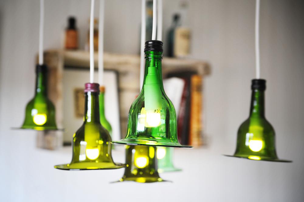 Lampskärmar av glaskonstnärenAnny Jernberg, Återbrukshyttan. www.aterbrukshyttan.se