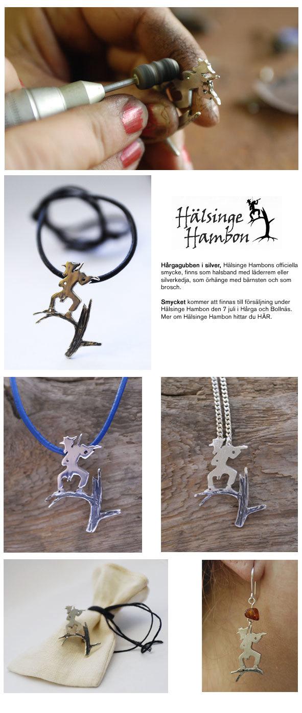 Hälsinge Hambon. Hårgagubben i silver. Anna Galtsdotter Design  http://www.eyedrop.net/ulrika