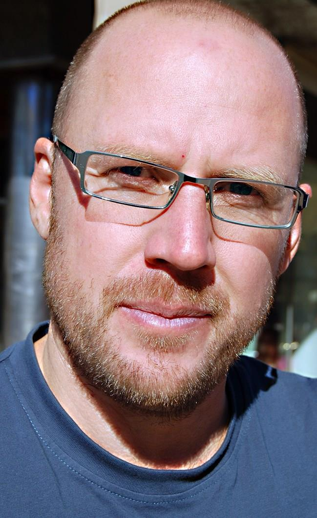Fredrik Broman som är ägare av Aurora Safari Camp.