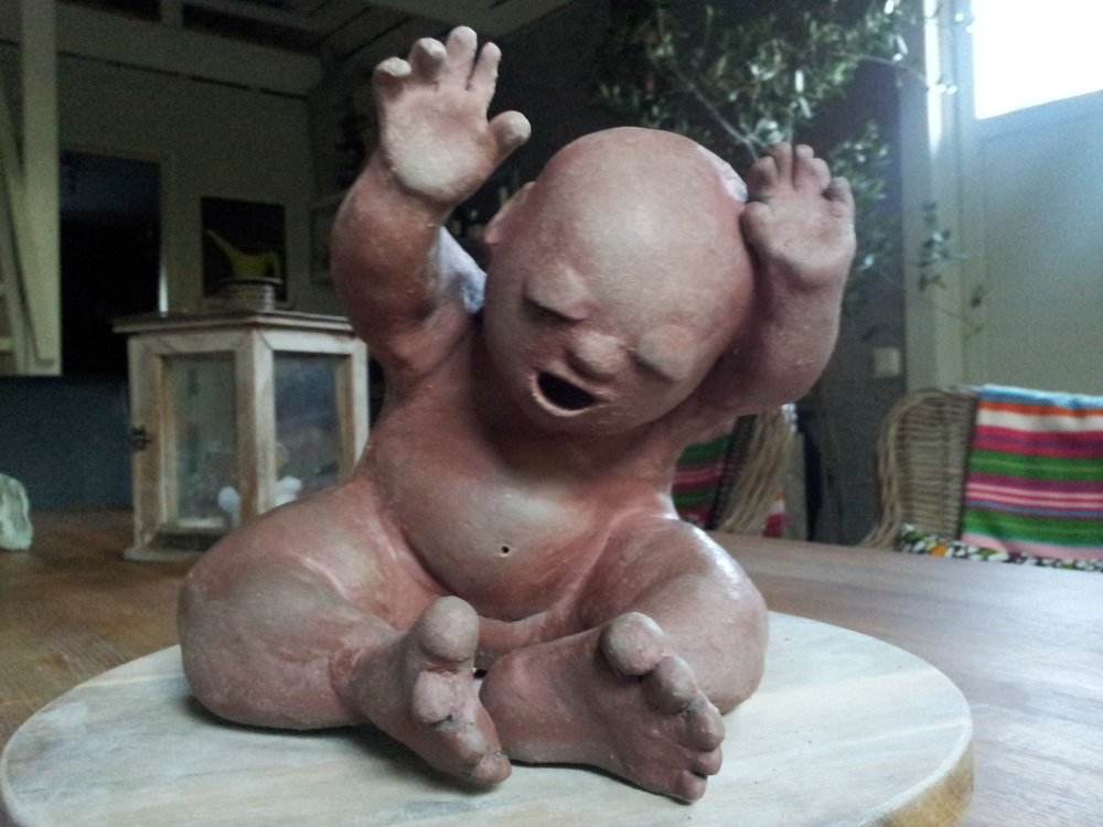 Skulptur av Caroline Bohman Persson.www.facebook.com/brannasslan