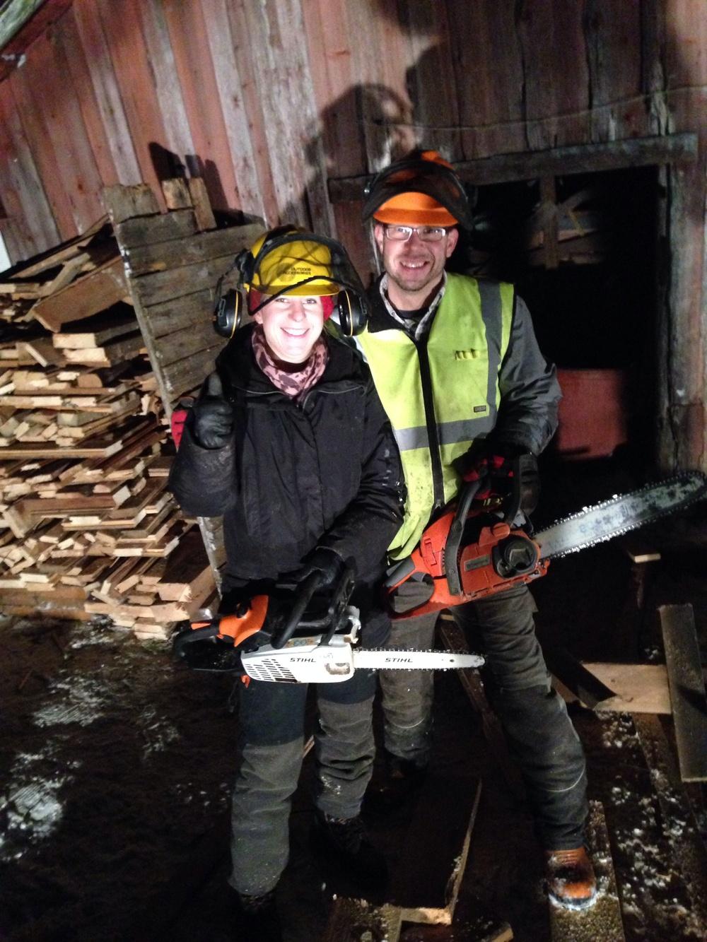 Janina Stoor och Timo Gildblad, två trötta men glada Eldsjälar.