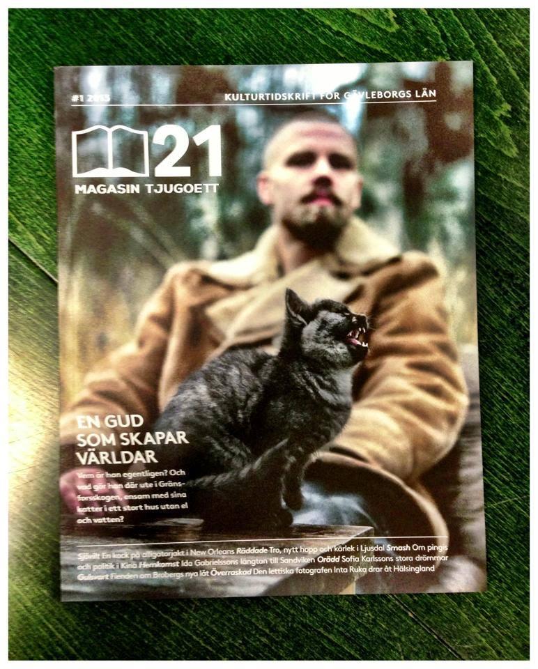 Leo Flavum pryder omslaget på Magasin 21! Foto: Jonas Forsberg!