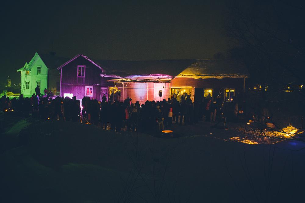 Midvinterglöd 2012 hos Skulls & Bones Artwork i Jättendal, Hälsingland. Foto: Philippe Rendu