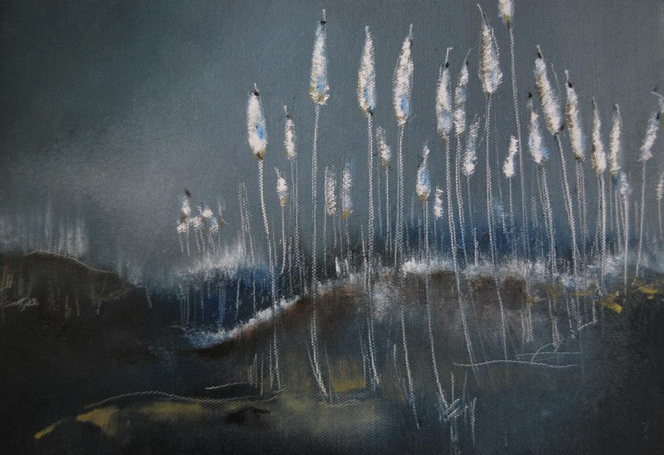 Landskapstavla av Janina Stoor.