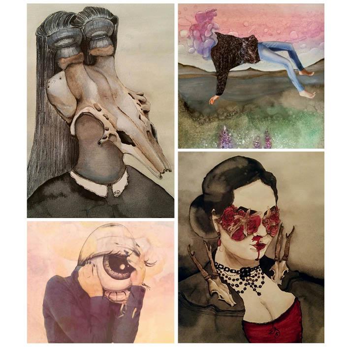 Malin Svedberg, Elsa Sophia Art  ställer ut sina målningar 12 december påMidvinterglöd. De flesta av hennes målningar är till salu samt att det kommer finnas merch, bla. vykort och smycken.