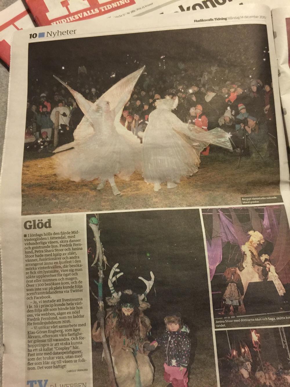 Många fina bilder från Midvinterglöd 2015 - FjäderFall i Hudiksvalls Tidning.
