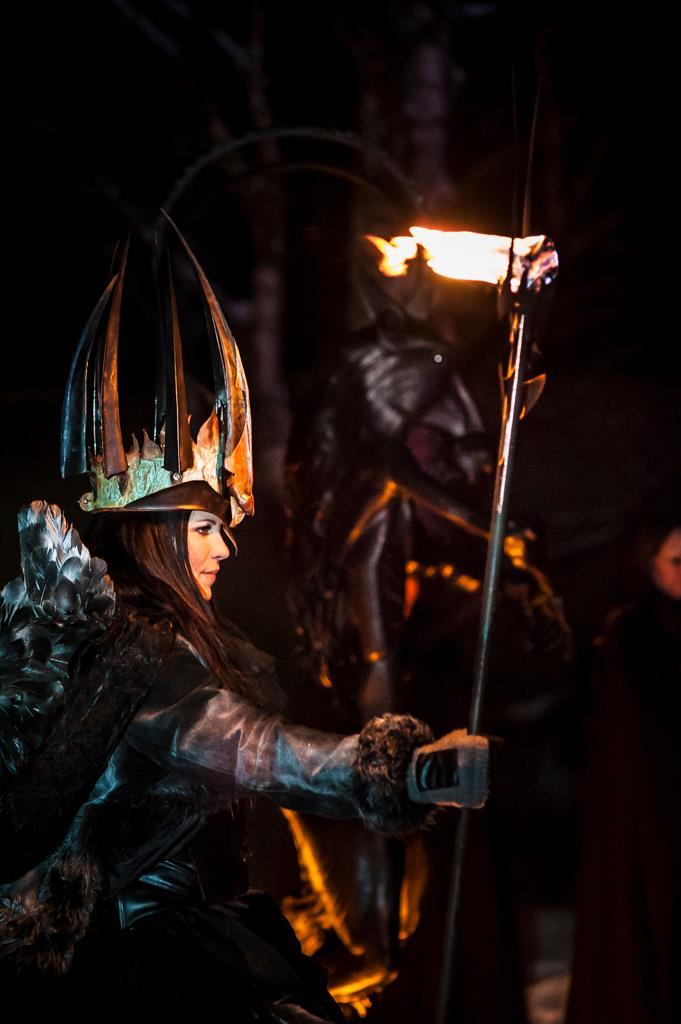 Lucia i folktron, Midvinterglöd 2012! Första gången Katarina Borbos gestaltade vår lucia. Foto: Martin Burmester