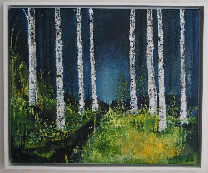 Tavla av Konstnär Janina Stoor, Gränsfors.