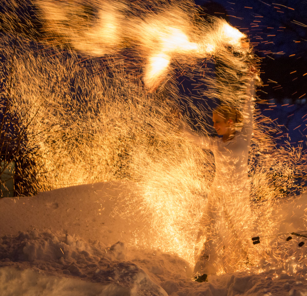 Illumina eldshow medverkar på årets Midvinterglöd 10 december. Foto: Fredrik Broman, humanspectra.com