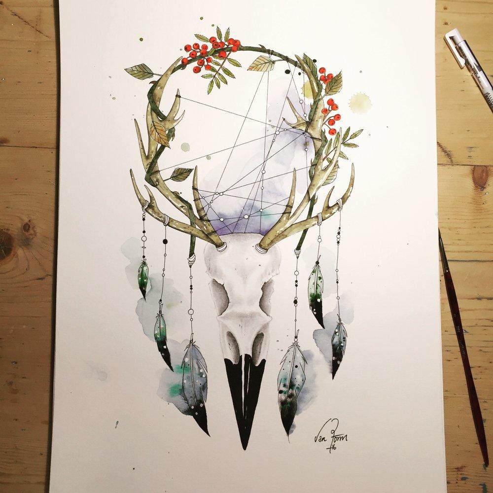 Isabelle Rönnquist ställer ut sin konst på Midvinterglöds julmarknad 10 december 2016