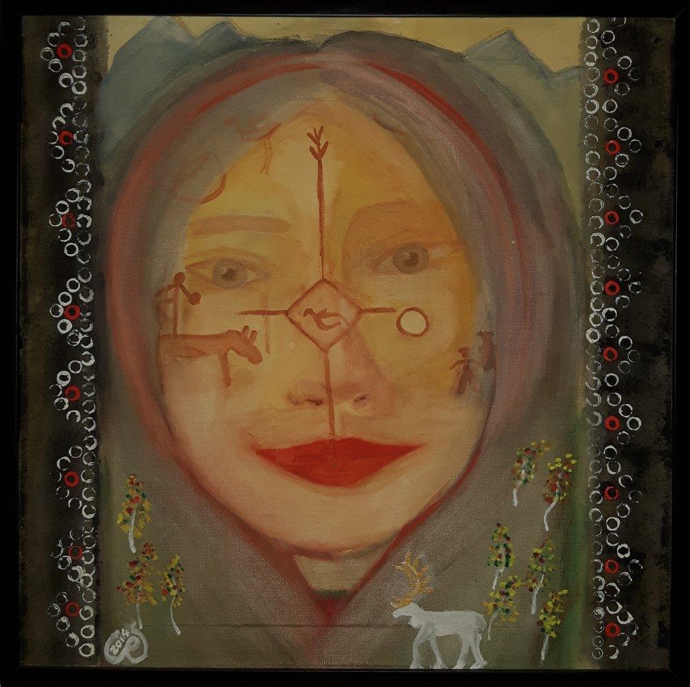 Carina Rist ställer ut sin konst på Midvinterglöd 10 december 2016 i Jättendal, Hälsingland