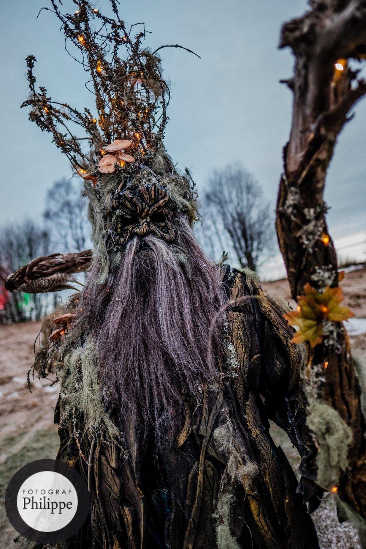 """Midvinterglöds Treebeard """"Lavskägge""""av Petra Shara Stoor. Modell Kalle """"Eldsmeden"""" Svensson, Fotograf: Philippe Rendu"""