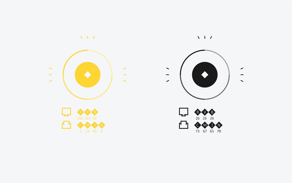 colorimétrie jaune noir