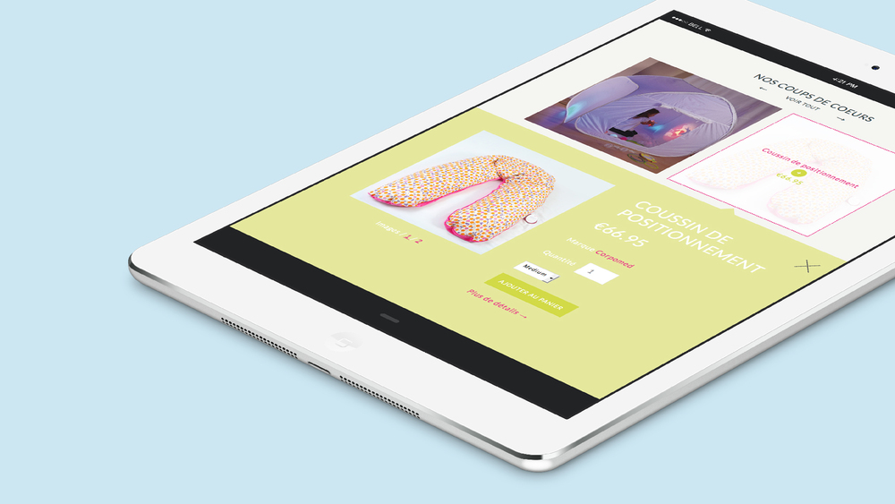 Site e-commerce - iPad
