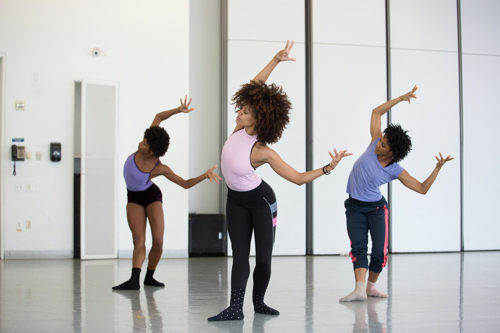 Dancers rehearsing the dance performance 'Deep' by choreographer Mauro Bigonzetti at a studio in Alvin Ailey American Dance Theater on 9th Avenue.