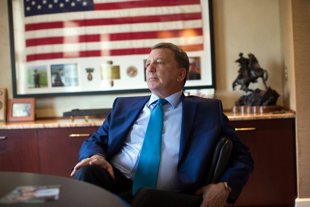 Peter Sudler, president and CEO of The Sudler Companies photographed in his office in Chatham Township, NJ. Mr. Sudler is a former federal prosecutor and third generation president who took over the 107 year old development firm from his father.