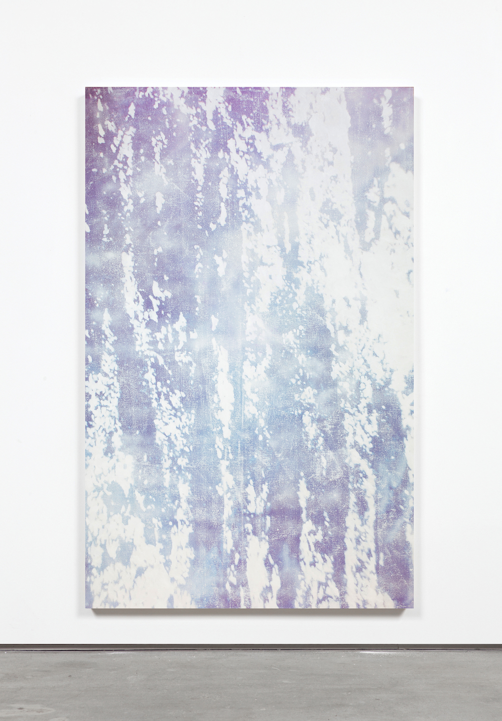 DP1,  2015 Dye, Acrylic, Oil Stick and Spray on canvas, wooden stretchers 180 x 100 cm.